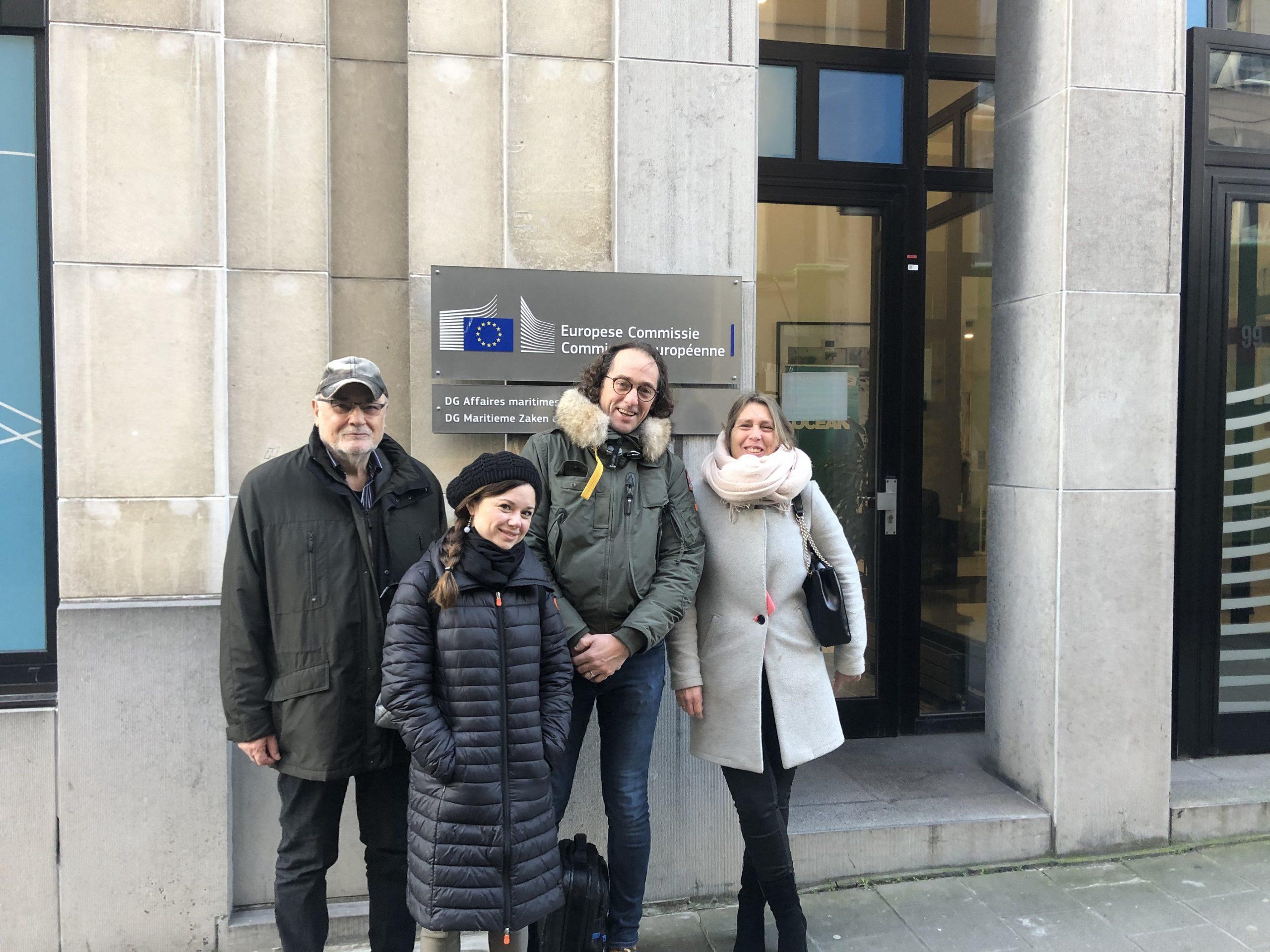Bestuursleden netVISwerk voor lobby in Brussel
